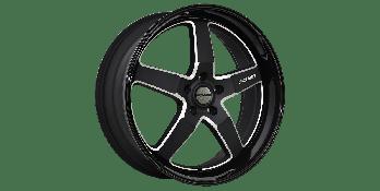 HYBRID-RS MATTE BLACK GLOSSY LIP MILLED