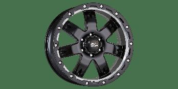 BEDROCK SATIN BLACK / MACHINED UNDERCUT
